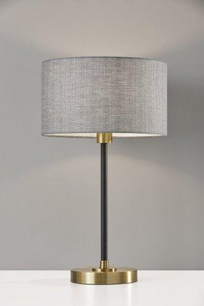 Bergen Table Lamp Black Antique Brass