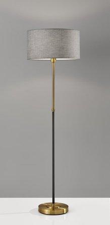 Bergen Floor Lamp Black Antique Brass