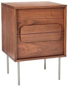 West Elm Gemini Nightstand Walnut