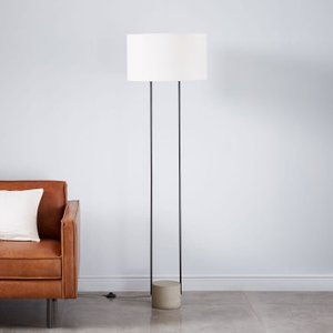 West Elm Industrial Outline Floor Lamp White