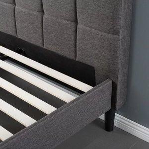Calvin Platform Queen Bed Black