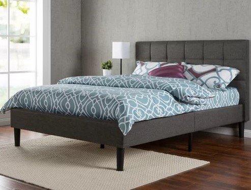 Calvin Platform Full Bed Dark Gray
