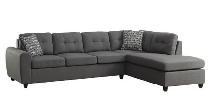 Stonenesse Reversible Sectional Sofa Gray