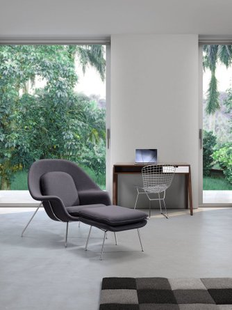 Nursery Chair And Ottoman Gray