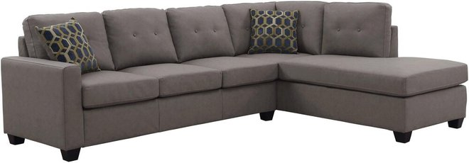 Powell Reversible Sectional Sofa Taupe