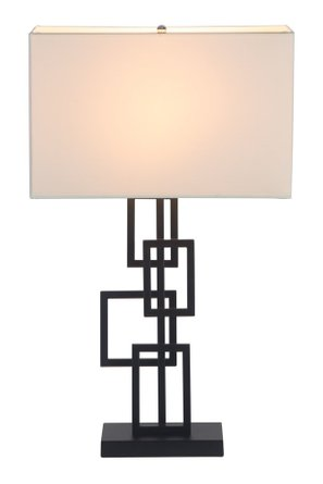 Step Table Lamp White & Black