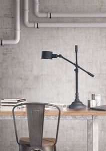 Turn Table Lamp Black Sand Granite