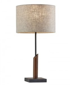 Ethan Table Lamp Natural And Walnut