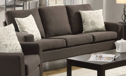 Bachman Transitional Sofa Gray/Cappuccino