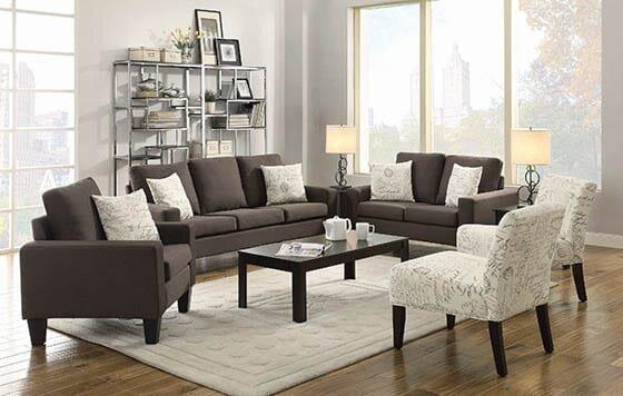 Bachman Transitional Sofa Gray/Cappuccino