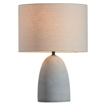 Vigor Table Lamp Beige And Concrete Gray