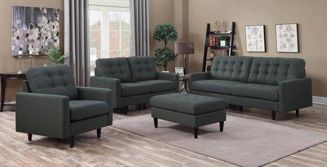 Kesson Modern Sofa Charcoal