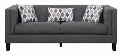 Scott Living Sawyer Modern Sofa Dusty Blue