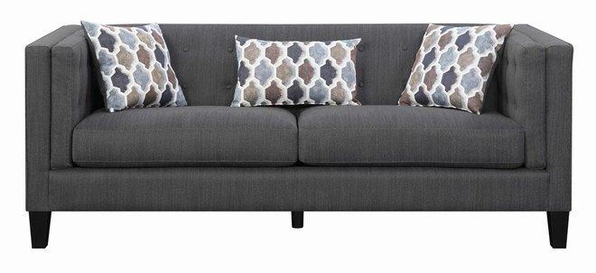 Scott Living Sawyer Modern Sofa Dusty Blue