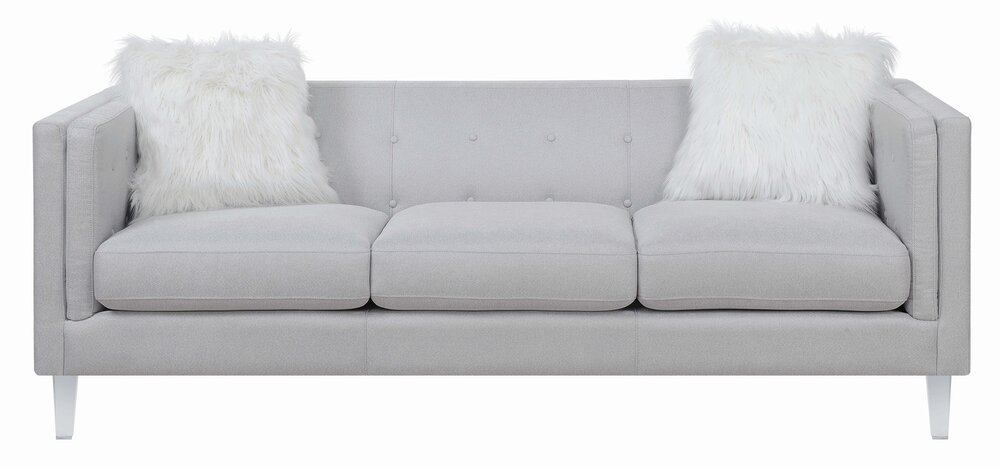 Scott Living Hemet Modern Sofa Light Gray