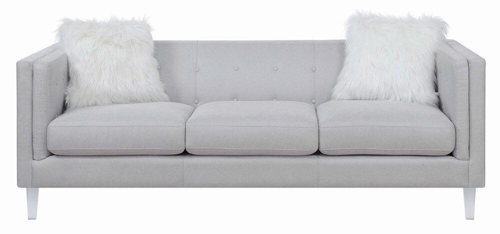 Scott Living Hemet Modern Sofa Light Gray