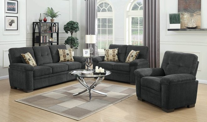 Fairbairn Casual Sofa Charcoal