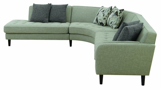 Pearshall Left Extended Sectional Sofa Gray