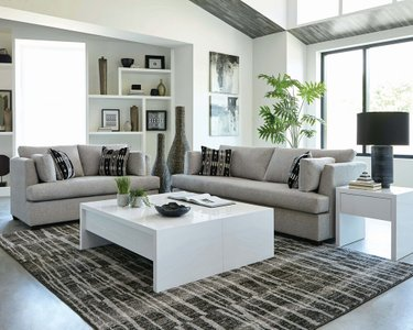 Lola Upholstered Sofa Gray