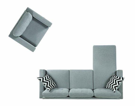 Metro Upholstered Tufted Reversible Sectional Sofa Light Gray