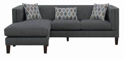 Sawyer Reversible Sectional Sofa Dusty Blue