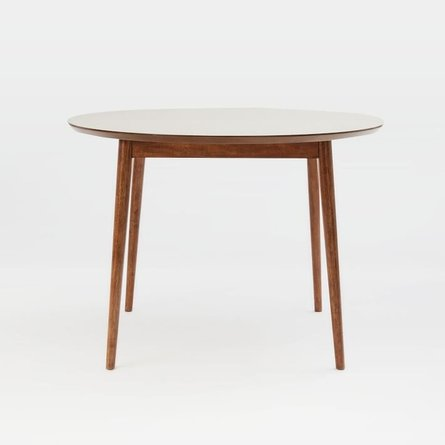 West Elm Fishs Eddy Expandable Round Dining Table Walnut