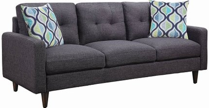 Watsonville Retro Sofa Gray