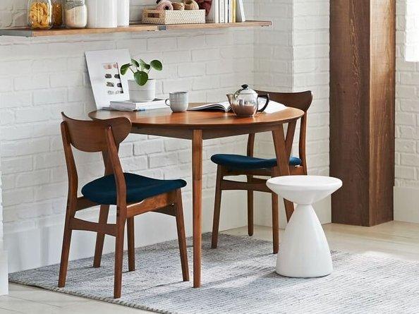 West Elm Classic Dining Chair Nightshade Mod Weave Walnut