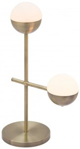 Waterloo Table Lamp White And Brushed Bronze