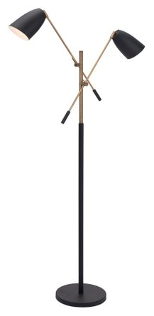 Tanner Floor Lamp Matt Black & Brass