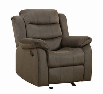 Rodman Casual Chocolate Glider Recliner Chocolate