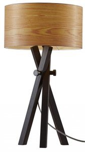Bronx Table Lamp Black And Cherry