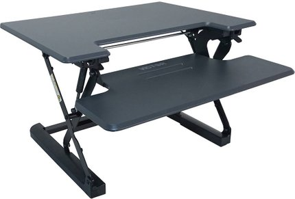 Victor Adjustable Standing Desk Charcoal Gray & Black