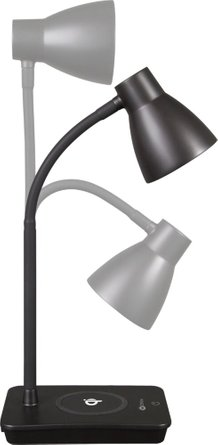 OttLite Infuse LED Desk Lamp with Qi Charging Black