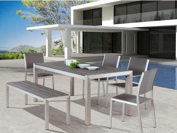 Metropolitan Dining Table Brushed Aluminum