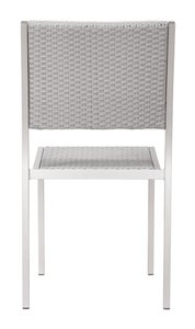 Metropolitan Dining Armless Chair Brushed Aluminium ( Set of 2 )