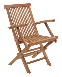 Regatta Folding Arm Chair Natural (Set of 2)