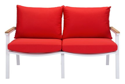 Maya Beach Sofa Red, Natural & White