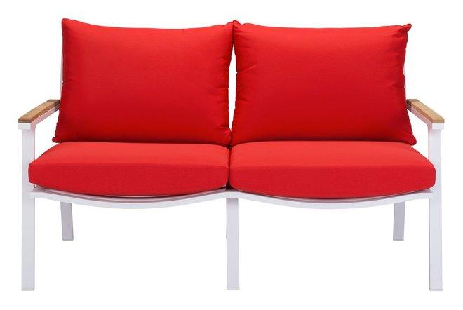 Maya Beach Sofa Red & White