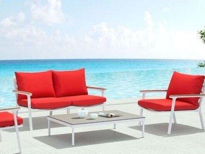 Maya Beach Coffee Table White & Granite