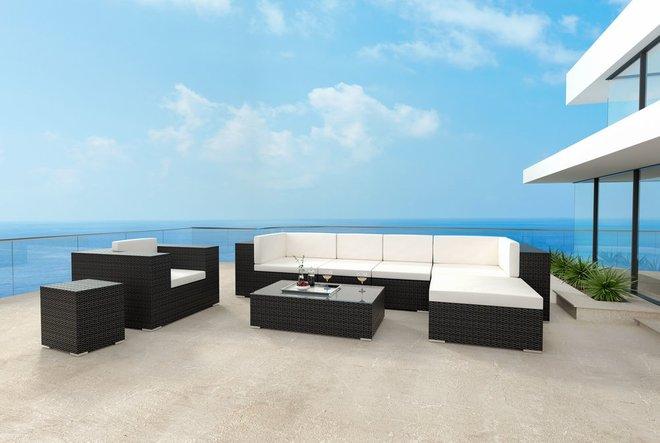 Cartagena Corner Chair Espresso & Beige