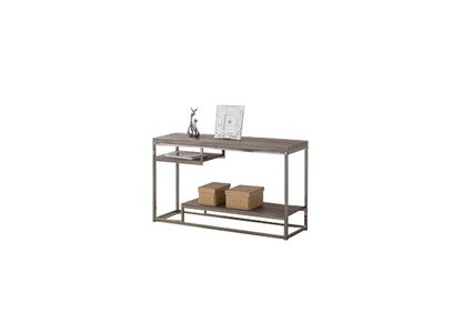 Modern Console Table Weathered Gray And Black Nickel