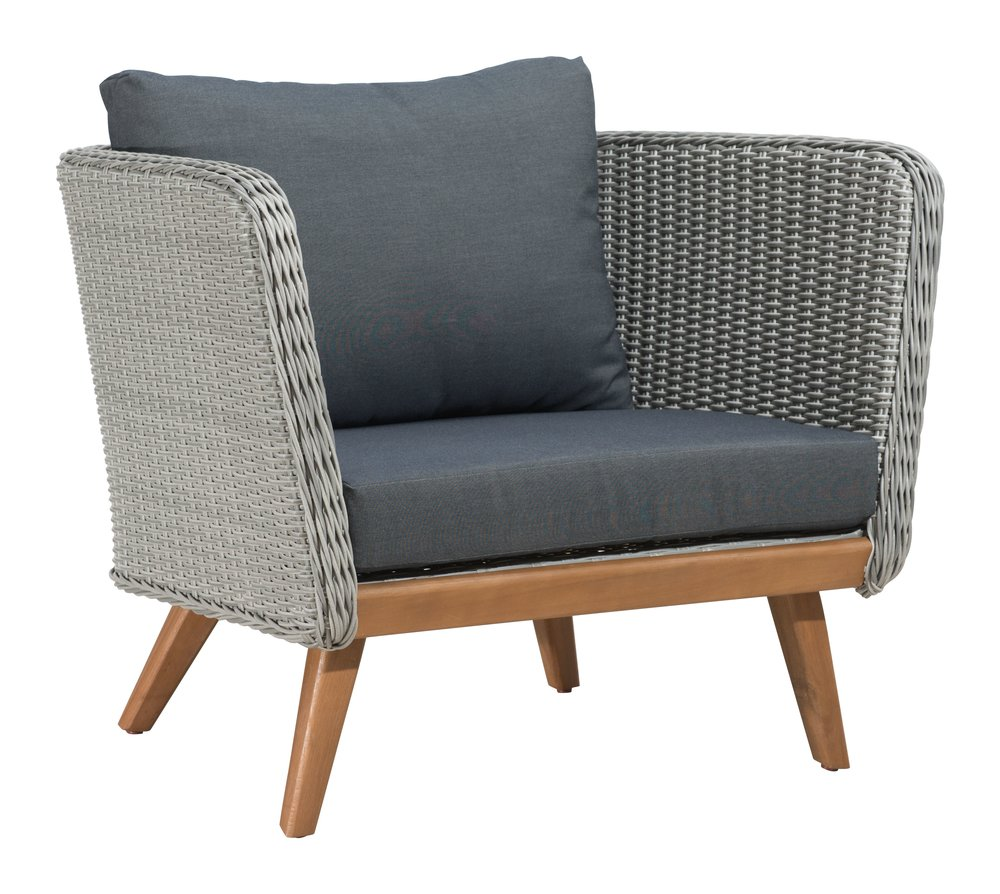 Grace Bay Arm Chair Natural & Gray