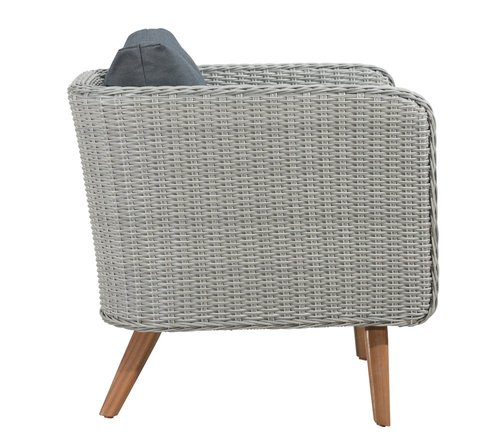 Grace Bay Arm Chair Natural & Gray