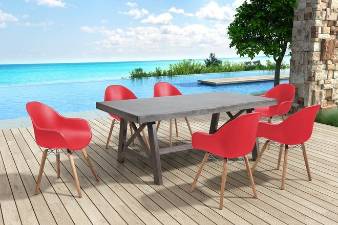 Tidal Dining Chair Red (Set of 4 Units)