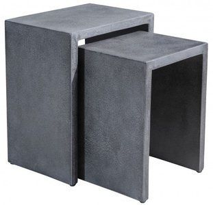Mom Nesting Side Tables Cement