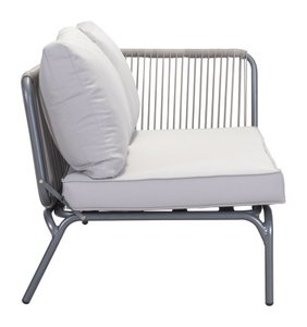Pier Raf Double Seat Gray