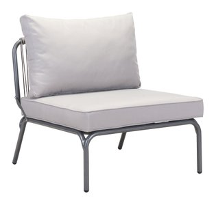 Pier Armless Single Chair Gray