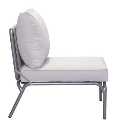 Pier Armless Single Chair Gray