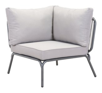 Pier Corner Single Chair Gray